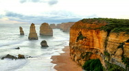 Stock Video Footage of 12 Apostles Time Lapse