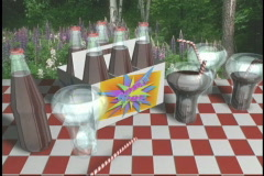 1957 Picnic carton soda pop top  Stock Footage
