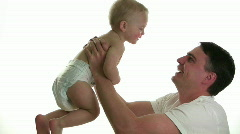 Father and Baby Play - stock footage