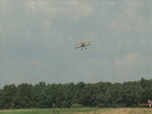 Stock Video Footage of Stearman Landing