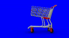 Shopping cart transforming on high-speed transport with large wheels Stock Footage