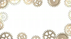 Frame of Rotating Gears Stock Footage