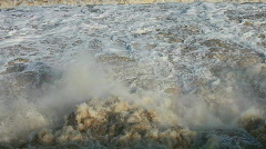 Wild flood water  - stock footage