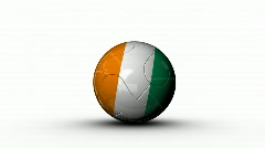 world cup COTE D'IVOIRE - stock footage