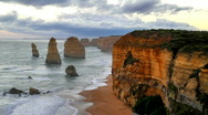 Stock Video Footage of 12 Apostles Real time