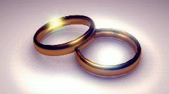 t179 rings wedding wed loop looping cg cgi 3d - stock footage