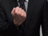 Businessman gives finger - NTSC Stock Footage