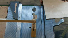 TABLE SAW FROM ABOVE 2 Stock Footage