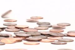 Pennies falling - NTSC Stock Footage
