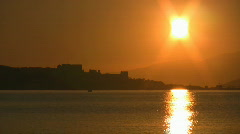 Sunrise at Pythagorio, Samos island Greece Stock Footage