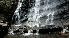 Details of waterfall Zheneckiy Huk in the Carpathians Mountains Stock Footage