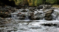 Running water among the rocks near Kosiv, Carpathian Ukraine Stock Footage