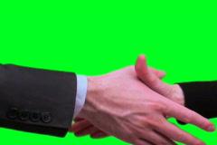 Businessman handshake green screen - NTSC Stock Footage