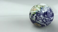 Glossy Earth Revolving 720p Stock Footage