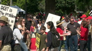 Stock Video Footage of tea party 2010 b