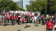 Tea party 2010 anti government rally Stock Footage