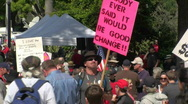 Tea party ,2010 tax protest Stock Footage