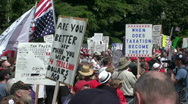 Stock Video Footage of tea party 2010 protesters