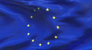 Stock Video Footage of Creased satin EUROPEAN UNION flag in wind in slow motion