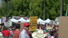 Tea party 2010 Stock Footage