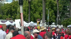 Tea party 2010 Sacramento Stock Footage