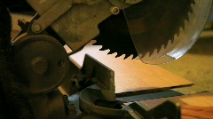 Industrial Circular Saw Cutting Wood Stock Footage