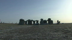 P00946 Carhenge in Nebraska Stock Footage