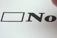 Checkbox NO close-up V2 - NTSC Stock Footage