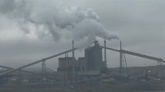 P00957 Coal Fired Powerplant and Pollution Stock Footage