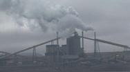 Stock Video Footage of P00957 Coal Fired Powerplant and Pollution
