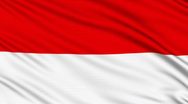 Monaco flag, with real structure of a fabric Stock Footage