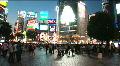Tokyo Shibuya - Nigh Scene 1 - around the most famous street in Shibuya Footage