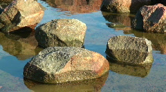 Stones at the seaside Stock Footage