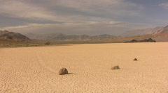 Stock Video Footage of Death Valley 29 Racetrack Sliding Rocks Loop