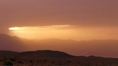 Death Valley HS 18 Telescope Peak Sunset Time Lapse x20 Stock Footage