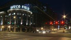 Timelapse Safeco Field Traffic stadium Stock Footage