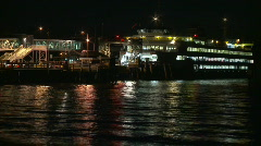 Timelapse FERRY night Stock Footage