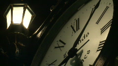 Time-lapse Antique Clock CU Stock Footage