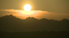 Time-lapse Sunset Mountains Part 2 Stock Footage