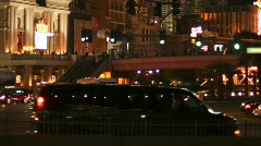 Vegas 2010 intersection time lapse - 4 - zoom in  Stock Footage
