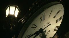 Time-lapse antique Clock CU Stock Footage