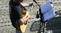 Acoustic Guitar Player With Sheet Music Footage