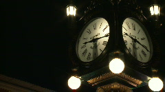 Time-lapse Antique Clock Stock Footage