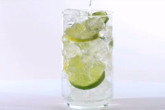 Sprite with lime pour V1 - NTSC - stock footage