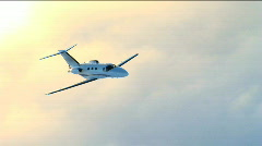 Stock Video Footage of Corporate Jet Air to Air