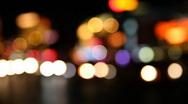 Night Las Vegas Traffic 1592 Stock Footage
