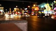 Night Las Vegas Traffic 1597 Stock Footage