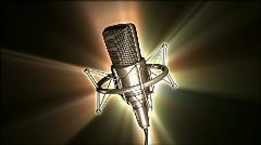 Studion microphone Stock Footage