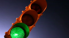 Traffic light Stock Footage