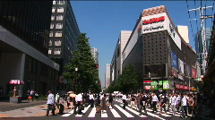Pedestrian At Intersection In Hibiya District - Tokyo, Japan Stock Footage